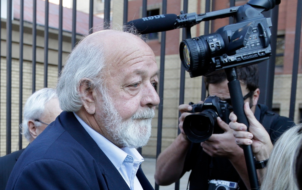 Barry Steenkamp, father of Reeva Steenkamp, arrives for the Oscar Pistorius murder trial at the high court in Pretoria, South Africa, Thursday, Sept. 11, 2014. (AP / Themba Hadebe)
