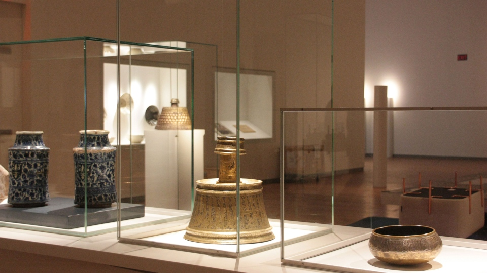 Some of the artifacts on display at the new Aga Khan museum in Toronto are pictured on Tuesday, Sept. 9, 2014. (Colin Perkel / THE CANADIAN PRESS)