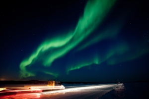 A large solar storm triggered this brilliant show of the Aurora Borealis near Yellowknife, N.W.T. on Thursday March 8, 2012. (The Canadian Press / Bill Braden)