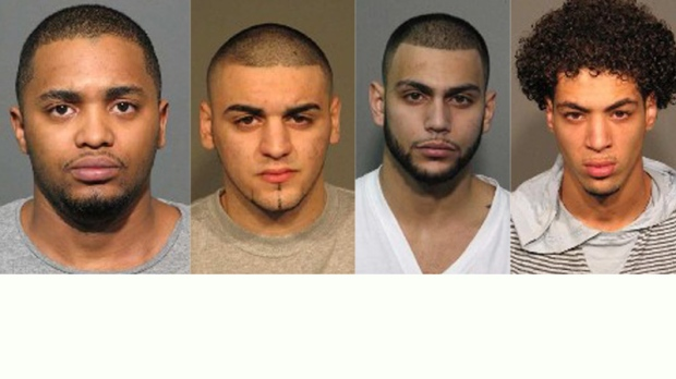 The men arrested are, (from left) Naib Ali Soilihi, Mohammed Rami Taha, Abdul Karim Nassereddine, while Mehdi Mohamed Hamza Mezri (right) is still being sought).