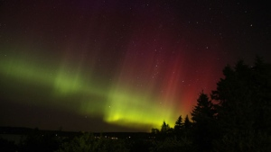 The northern lights as seen from Point La Nim, N.B. (Jim Clifford / MyNews)