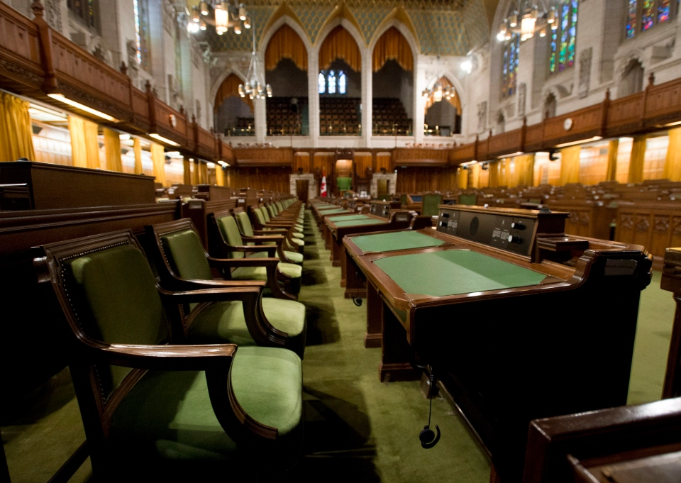 The House of Commons sits empty ahead the resumption of the session on Parliament Hill on Friday, Sept. 12, 2014 in Ottawa. (Adrian Wyld / THE CANADIAN PRESS)