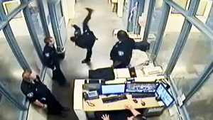 Caught on cam: Deputy suspended for kicking inmate