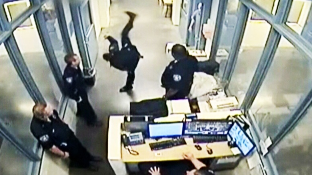 caught on cam deputy suspended for kicking inmate ctv news. Black Bedroom Furniture Sets. Home Design Ideas