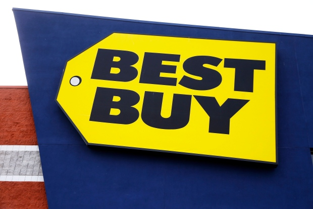 A Best Buy store sign is pictured in this March 25, 2014 file photo. (AP /Matt Rourke)