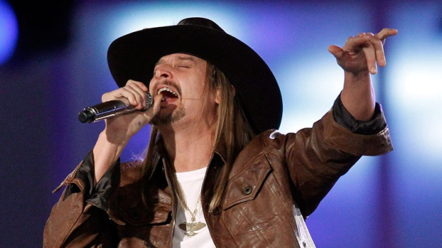 Kid Rock performs during the NASCAR Sprint Cup Series auto racing awards ceremony at The Wynn Las Vegas Resort, Friday, Dec. 2, 2011, in Las Vegas. (AP / Isaac Brekken)