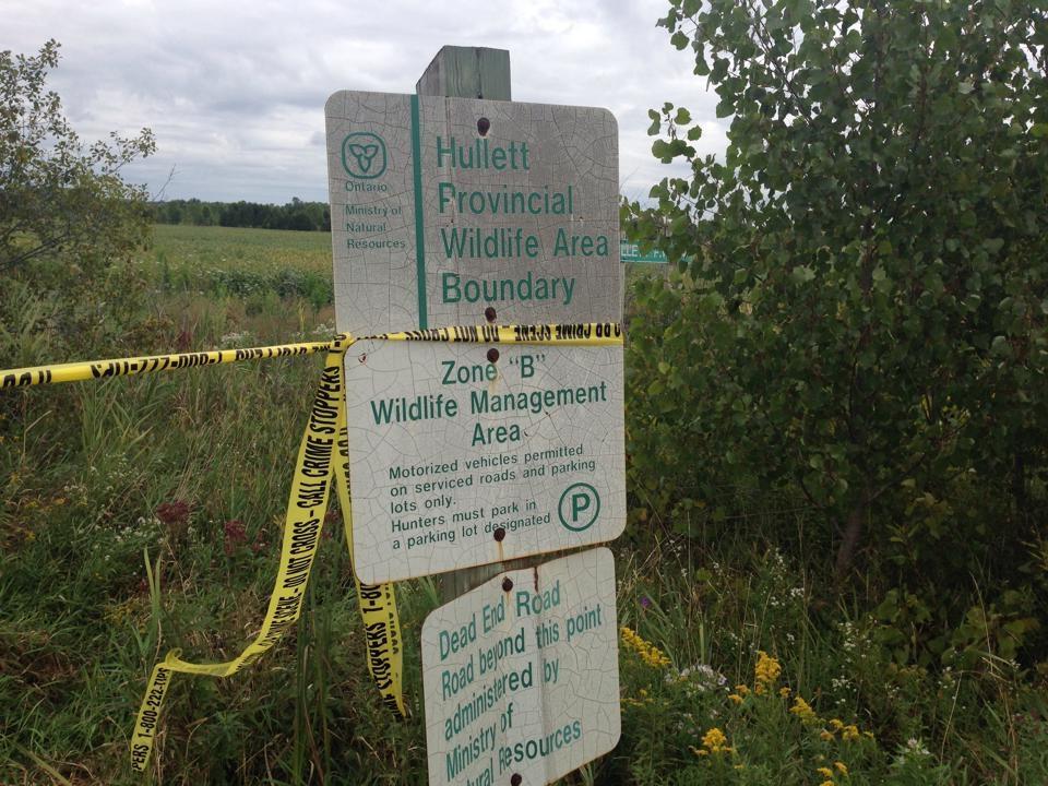 Police tape at Hullett Marsh