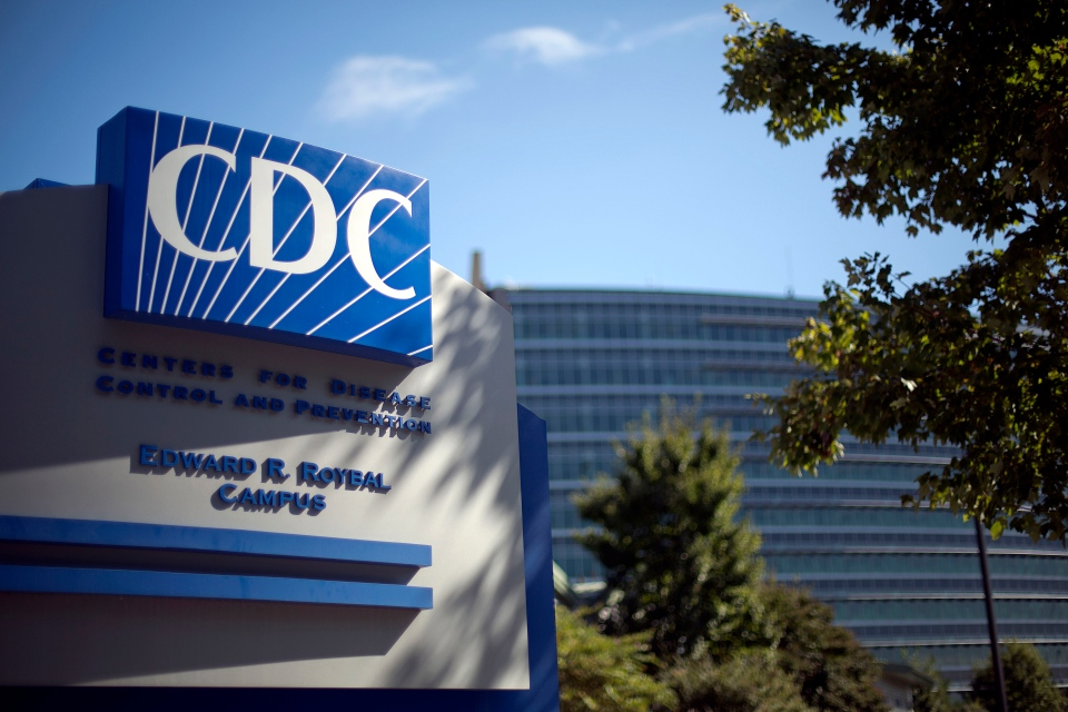In this Tuesday, Oct. 8, 2013 file photo, a sign marks the entrance to the federal Centers for Disease Control and Prevention in Atlanta. (AP / David Goldman)