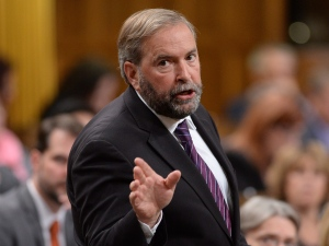 NDP Leader Tom Mulcair asks a question in the House of Commons in Ottawa, Monday, Sept. 15, 2014. (Adrian Wyld / THE CANADIAN PRESS)