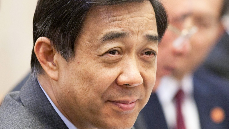 Party Secretary of Chongqing Bo Xilai is seen during a meeting with Canadian Prime Minister Stephen Harper in Chongqing, Saturday Saturday, Feb.11, 2012.
