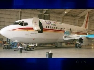 The Liberals will be using this Air Inuit plane, a Boeing 737 made in 1979, for their campaign.