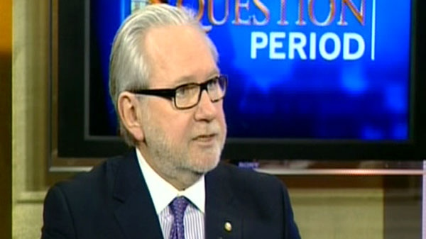 Peter Harder, the president of Canada-China Business Council appears on CTV's Question Period in Ottawa, Sunday, Feb. 12, 2012.
