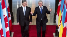 Harper with Petro Poroshenko in Ottawa