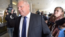 Doug Ford arrives at Mount Sinai Hospital