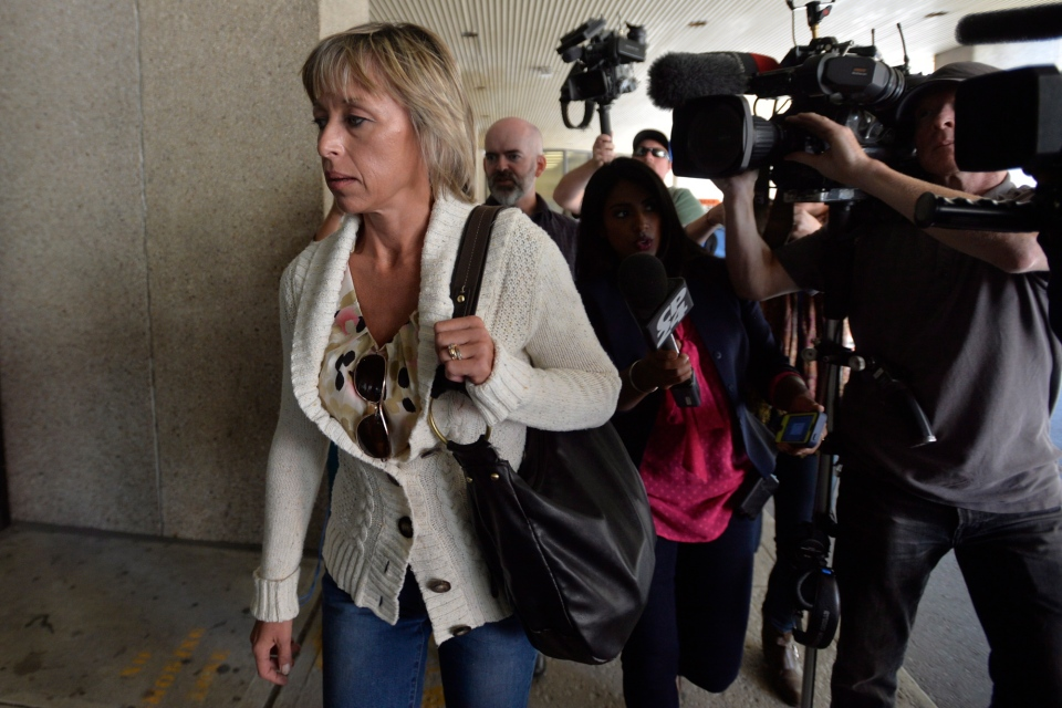 Mayor Rob Ford's wife Renata arrives at Mount Sinai Hospital in Toronto, Wednesday, Sept.17, 2014. (Nathan Denette / THE CANADIAN PRESS)
