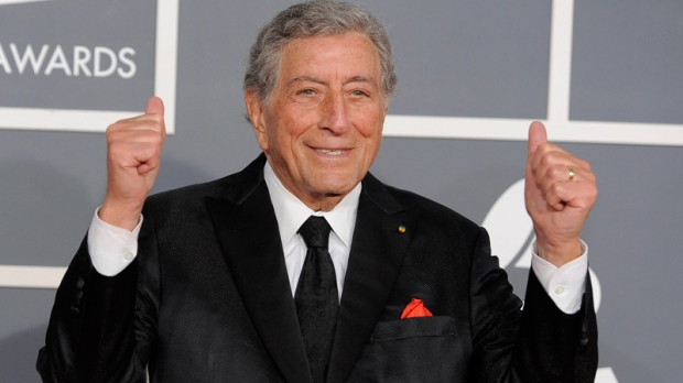 Tony Bennett arrives at the 54th annual Grammy Awards on Sunday, Feb. 12, 2012 in Los Angeles. (AP / Chris Pizzello)