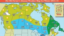 Weather map for 2015