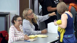 Teachers in B.C. vote on a new deal proposed by the government to end the strike on Thursday, Sept. 18, 2014.
