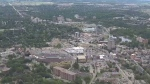 Aerial view of Waterloo, Ontario.