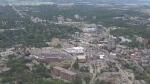 Aerial view of Waterloo, Ontario.
