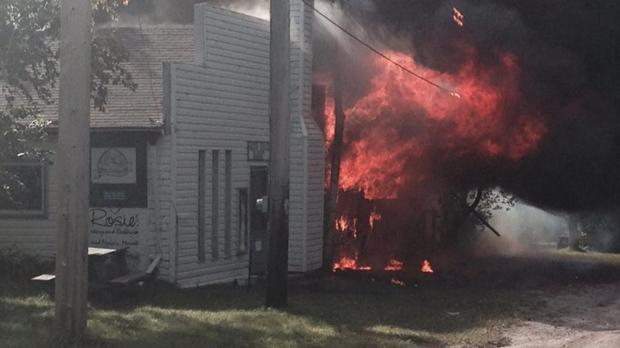 Fire hits Grand Beach bakery | CTV News