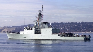 HMCS Algonquin, an Iroquois-class destroyer, has been in service with the Canadian Forces since 1972.