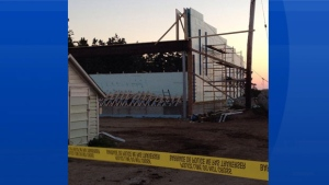 Three people were taken to hospital after the roof of a fish plant collapsed in southern Nova Scotia. (Becky Myers)