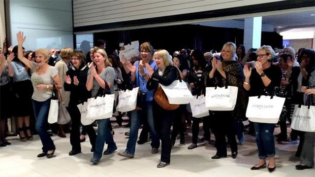 Shoppers check out the new Nordstrom location at Calgary's Chinook Centre. (Twitter / @NordstromYYC)