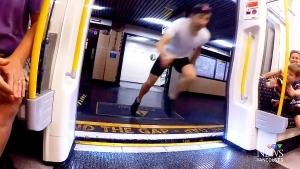 Faster than a speeding train? Man races train