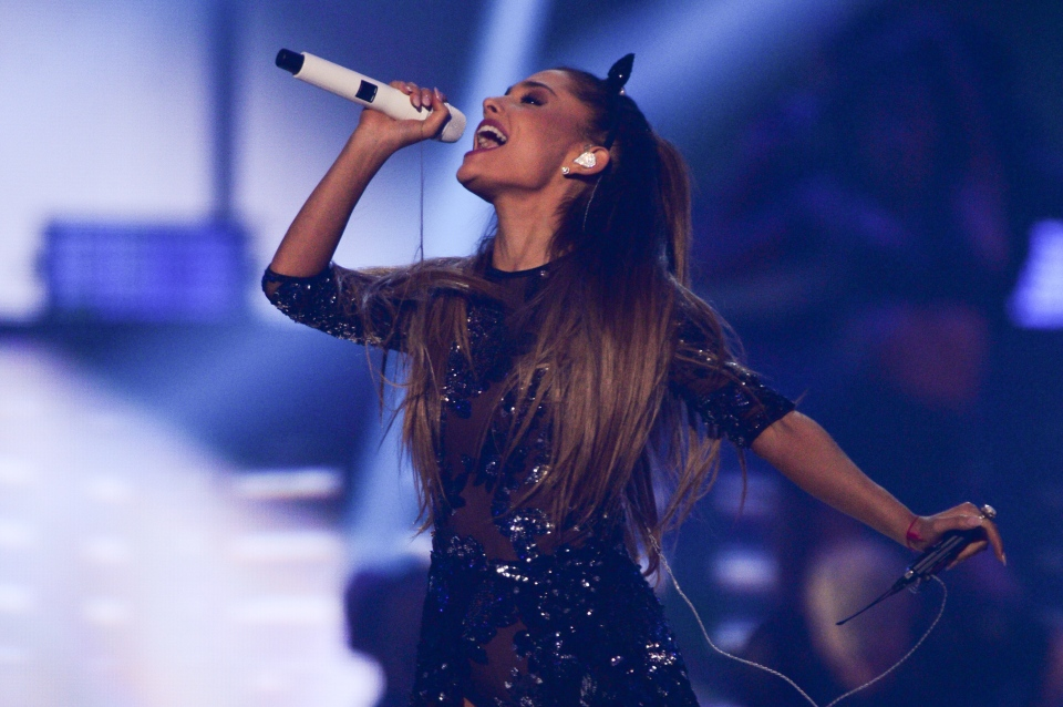 Ariana Grande performs at the iHeartRadio Music Festival at the MGM Grand Garden Arena on Sept. 19, 2014 in Las Vegas, Nevada. (Photo by Al Powers/Powers Imagery/Invision/AP)