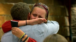 Emotional reunion as stranded travellers return