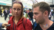 Travellers who were stranded by a hurricane in Mexico speak about the ordeal after returning home to Canada, Friday, Sept. 19, 2014.