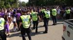 London police patrol 2014 Western Homecoming parties in London, Ont. (Bryan Bicknell / CTV London)