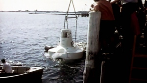 Alvin submersible in the water
