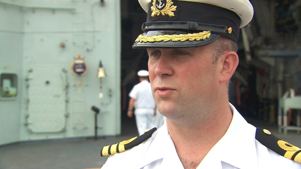 HMCS Toronto's commanding officer Cmdr. Jason Armstrong, speaking to CTV News, says the Royal Canadian Navy has the 'full support' of NATO.