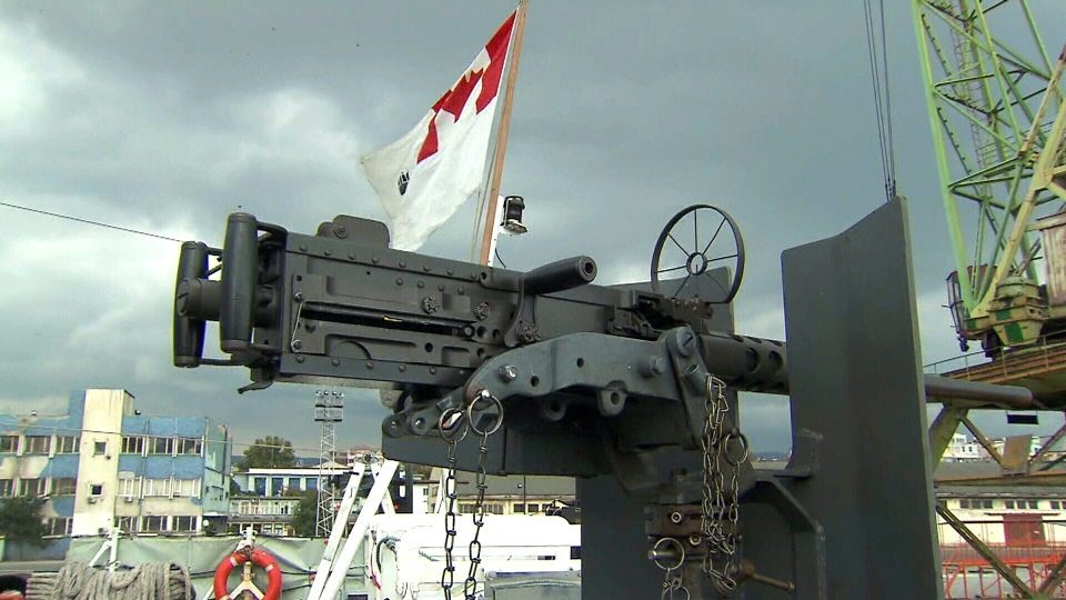 HMCS Toronto is armed with torpedoes, heavy weaponry and a Sea King helicopter on standby, is tasked with monitoring any signs of Russian aggression against neighbouring Ukraine.