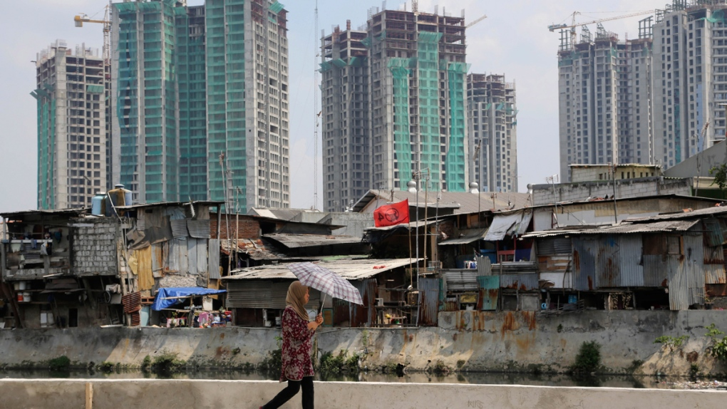 A slum in Jakarta, Indonesia