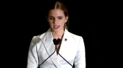 Actress Emma Watson delivers a speech about her campaign 'HeForShe' at the UN headquarters in New York, Monday, Sept. 22, 2014.