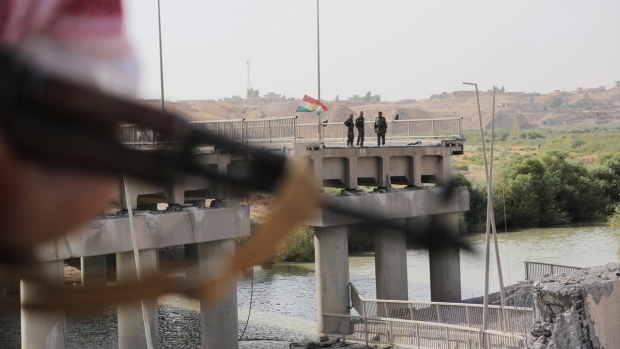 Khazer bridge between Mosul and Irbil, Iraq