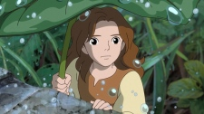The character Arrietty, voiced by Bridgit Mender, is shown in a scene from Disney's the 'The Secret World of Arrietty.'