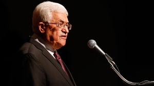 Palestinian President Mahmoud Abbas delivers a speech at Cooper Union, Monday, Sept. 22, 2014, in New York. (AP / Jason DeCrow)