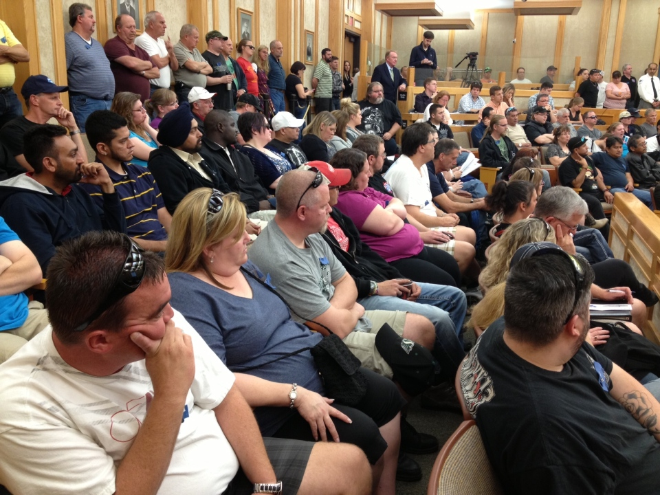 Transit workers jammed Saskatoon council chambers Monday during a special meeting that imposed pension changes.