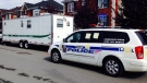 Laval police set up a command centre in Chomedey on Sept. 23, 2014