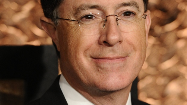 Stephen Colbert attends the first annual 'Comedy Awards,' honouring and celebrating the world of comedy, March 26, 2011. (AP / /Peter Kramer)