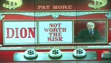 This screen grab taken from a Conservative Party ad, which shows Dion's face spinning on a slot machine, was released on Monday, Sept. 8, 2008.