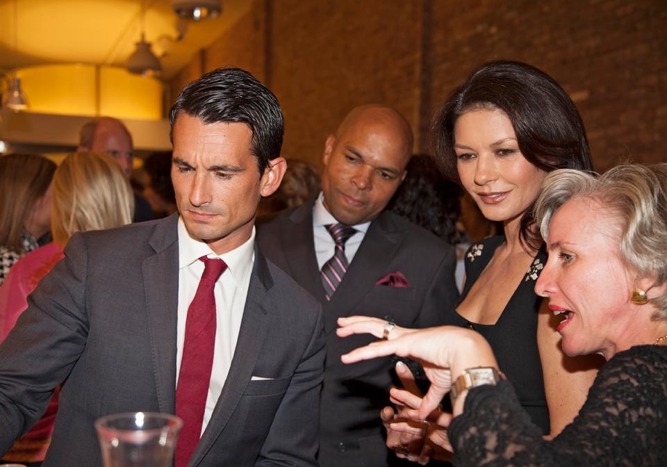 Catherine Zeta-Jones at the launch of a perfume