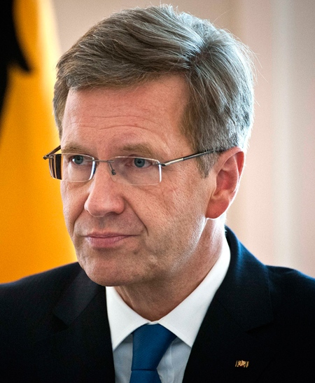 German President Christian Wulff announces his resignation during a statement at the Bellevue Palace in Berlin, Germany, Friday, Feb. 17, 2012. (dapd / Timur Emek)
