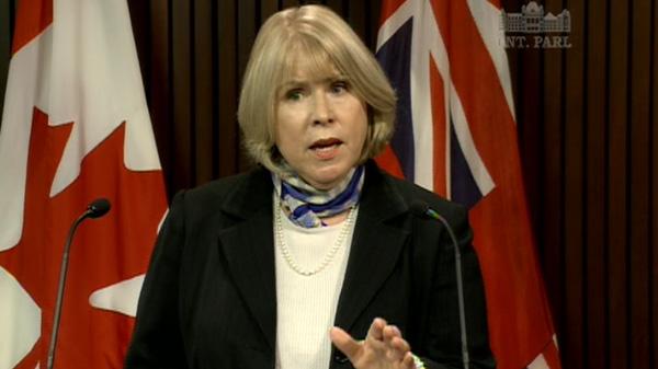 Ontario Health Minister Deb Matthews.
