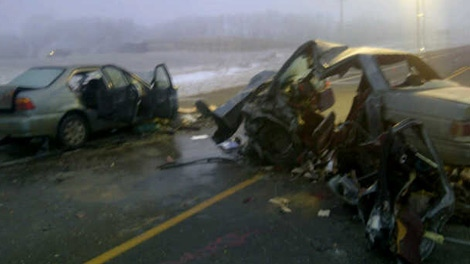 Three men died in a head-on collision on Highway 10. [photo courtesy of the RCMP]