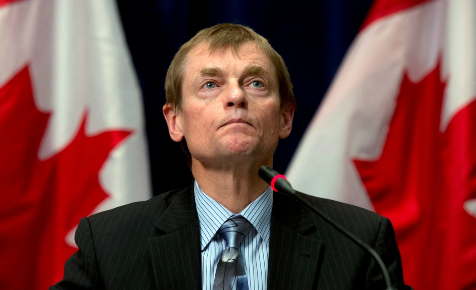 In this file photo, former Deputy Chief Public Health Officer Gregory Taylor speaks during an announcement, Wednesday January 8, 2014 in Ottawa. (The Canadian Press / Adrian Wyld)